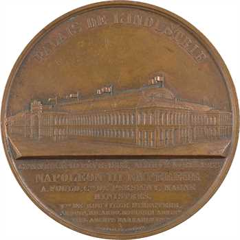 Second Empire, le Palais de l'industrie à l'Exposition Universelle de Paris, par Caqué et J. Wiener, 1855 Paris