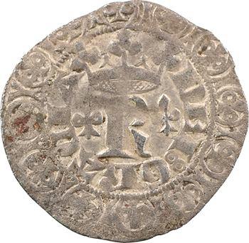 Bar (duché de), Robert, gros blanc aux lis et R, s.d. (après 1365)