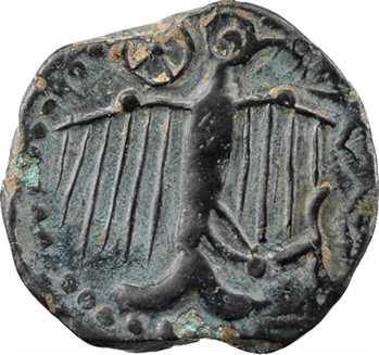 Sénons, bronze à l'aigle et au profil géométrique (9 mèches), Ier s. av. J.-C.