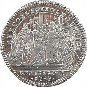 Louis XV, sacre à Reims le 25 octobre 1722, argent, après 1740, Nuremberg
