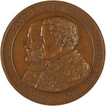 Allemagne, Frédéric Guillaume III, tricentenaire de la Réforme à Berlin, par Pfeuffer, 1839 Berlin