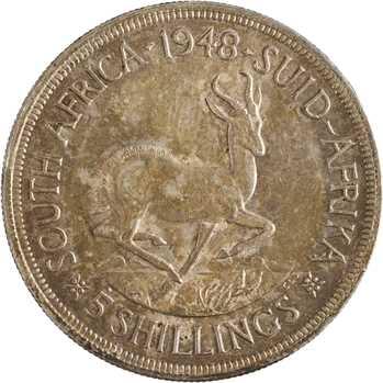 Afrique du Sud, Georges VI, 5 shillings, 1948