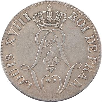 Guyane, Louis XVIII, 10 centimes, 1818 Paris
