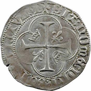 Charles VII, blanc à la couronne, 1re émission, Bourges