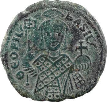Théophile, follis type 3, s.d. (829-842), Constantinople