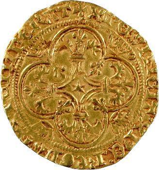 Charles VII, écu d'or 1er type, 3e émission, Toulouse