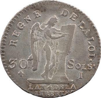 Constitution, 30 sols FRANÇOIS, An 4, 1792 Limoges