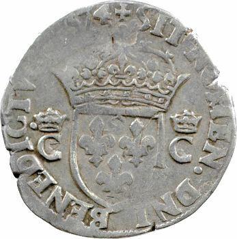 Charles IX, teston 10e type, 1574 Paris