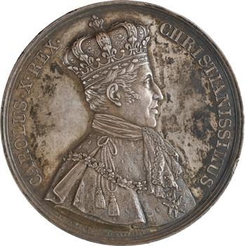 Charles X, médaille du sacre à Reims (Sb.89a), 1825 Paris
