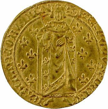 Charles VII, royal d'or 2e émission, Angers