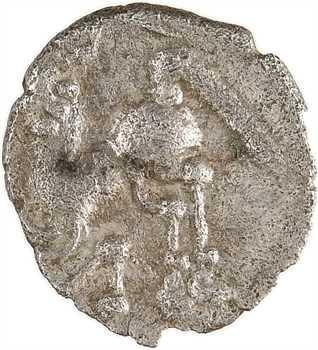 Aulerques Cénomans (ou Carnutes), denier à la tête de Pallas à gauche, c.80-50 av. J.-C