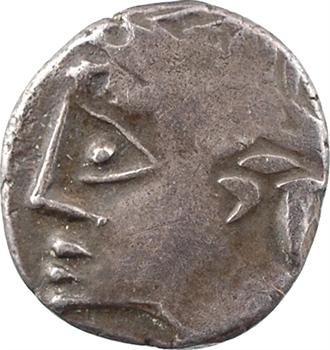 Allobroges, denier au profil stylisé, IIe-Ier s. av. J.-C