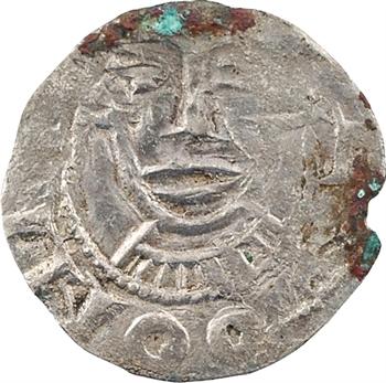 Franche-Comté, comté de Scodingue, denier au nom de Charles, s.d. (c.1000) Lons-le-Saunier