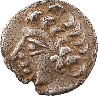Volques Tectosages, obole à la croix (croissants 1-4), série I romanisée, IIe-Ier s. av. J.-C