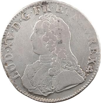 Louis XV, écu aux rameaux d'olivier, 1737 Troyes