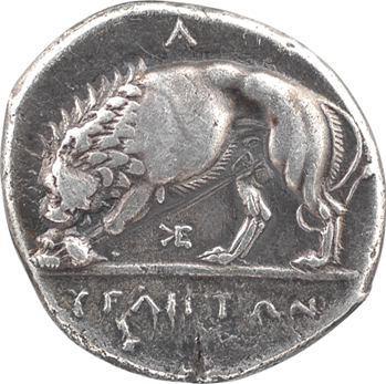 Lucanie, Vélia, didrachme signée de Kléodoros, c.280 av. J.-C.