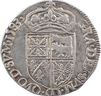 Béarn (seigneurie de), Henri II, quart d'écu, 1583 Pau