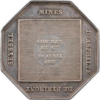 Louis-Philippe Ier, dallage de la place de la Concorde (mines d'asphalte de Pyrimont Seyssel), 1837 Paris