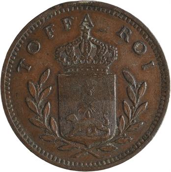 Dahomey, Toffa roi de Porto Novo, module de 10 centimes, campagne du Dahomey, 1892