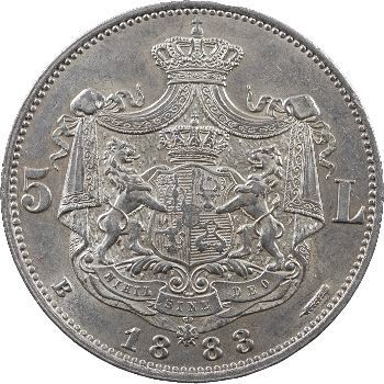 Roumanie, Charles Ier, 5 Leva, 1883