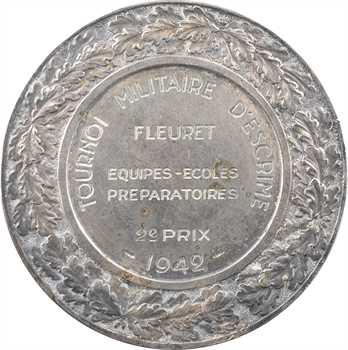 IIe Guerre Mondiale, tournoi militaire d'escrime, 2e prix, par F. Angeli, 1942 Paris