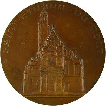 Lindauer (E.) : église Saint-Etienne-du-Mont, la châsse de sainte Geneviève, s.d. Paris