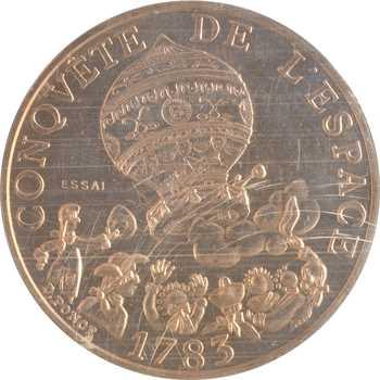 Ve République, essai de 10 francs Conquête de l'Espace, 1983 Pessac