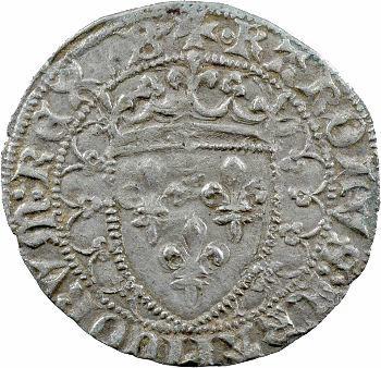 Charles VII, blanc dentillé 2e émission, Bourges (?)