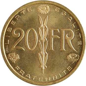 IVe République, pré-série de 20 francs par Simon, 1950 Paris