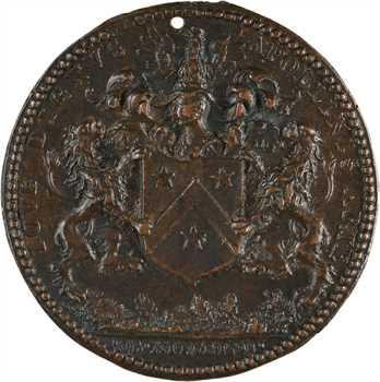 Louis XIII, Jean Héroard, médecin du Roi, fonte par Warin, 1628