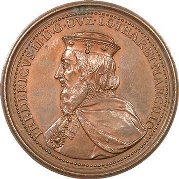 Lorraine, médaille de Frédéric II par Saint-Urbain