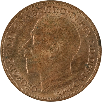 Royaume-Uni, Georges V, penny, 1920 Londres