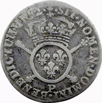 Louis XIV, douzième d'écu aux insignes, 1702 Dijon