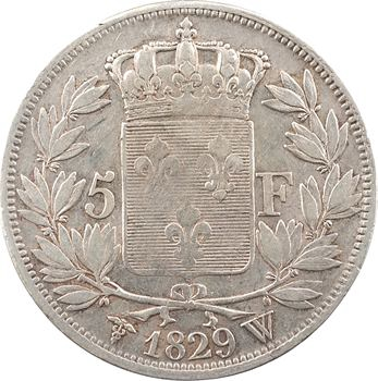 Charles X, 5 francs 2e type, 1829 Lille