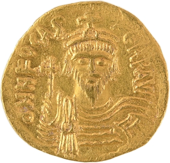 Phocas, solidus, Constantinople, 3e officine, 607-610