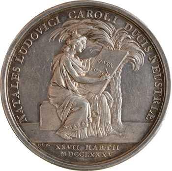 Louis XVI, la naissance du Dauphin Louis (XVII), détournée en médaille de mariage, 1785 (1787) Paris