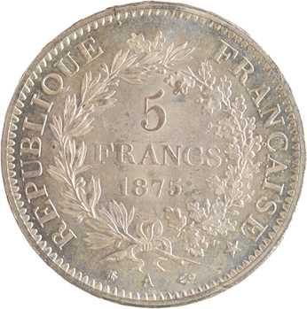 IIIe République, 5 francs Hercule, 1875 Paris