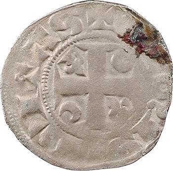 Champagne, Reims (archevêché de), Robert de Courtenay, denier, s.d. (1299-1324) Reims