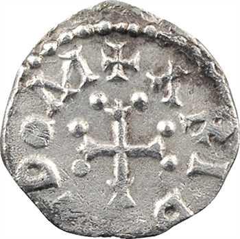 Aquitaine, Poitiers, denier à la croix bouletée, au nom d'Aribaldus, c.650-700
