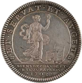 Louis XVI, agents de change et banque à Paris, 1703 (post.) Paris
