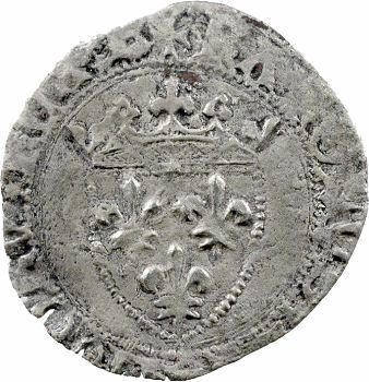 Charles VII, blanc à l'écu, Bourges