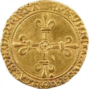 Charles VIII, écu d'or au soleil, 1re émission, c.1483 ?, Troyes