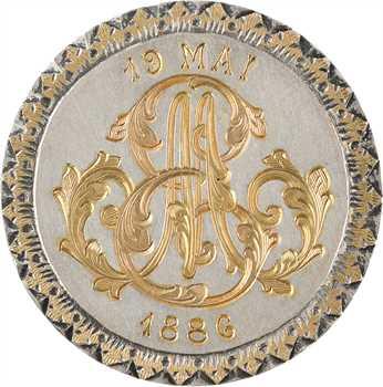 IIIe République, médaille-bijou de mariage, 1886