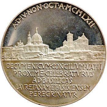Vatican, Jean XXIII, médaille annuelle, la Basilique d'Assise, 1962