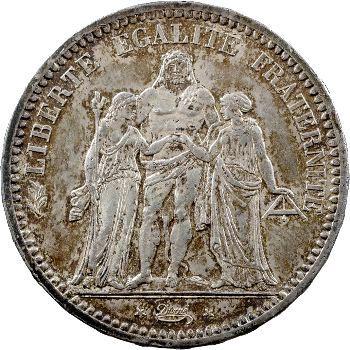 IIIe République, 5 francs Hercule, 1872 Paris