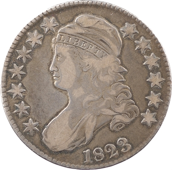 États-Unis, 50 cents ou demi-dollar Capped bust, 1823 Philadelphie