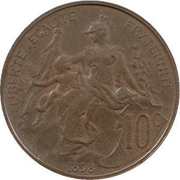 IIIe République, piéfort de 10 centimes Daniel-Dupuis, 1898 Paris