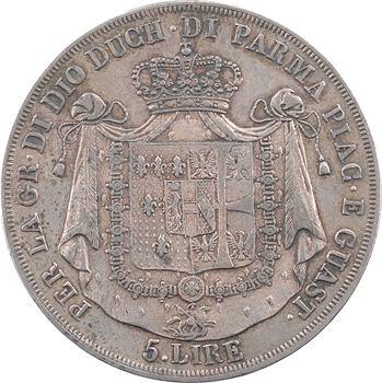Italie, Parme (duché de), Marie-Louise, 5 lire, 1815 Milan