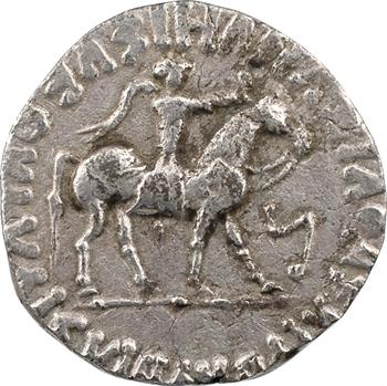 Royaume Indo-Scythe, Azès II, tétradrachme (Zeus), c.20 av. J.-C.-1 av. J.-C. Taxila ?