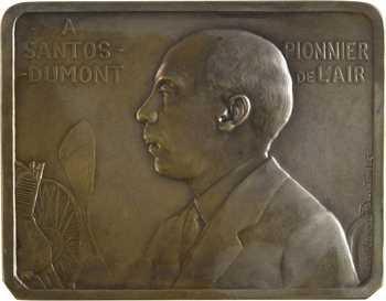 Aéronautique, Hommage à Alberto Santos-Dumont, par Lamourdedieu, 1930 Paris